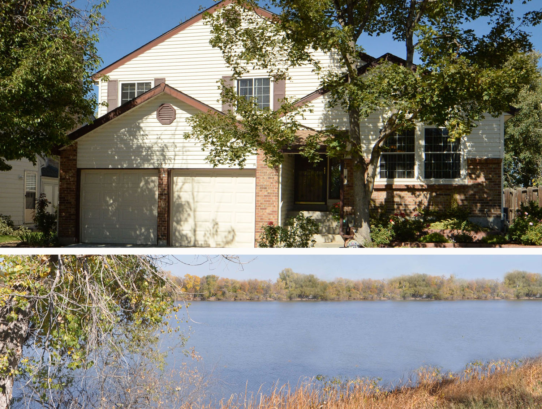 Home With Backyard Overlooking Beautiful Lake In Arvada